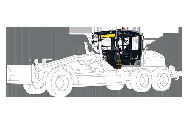 Cabina per Motolivellatrice