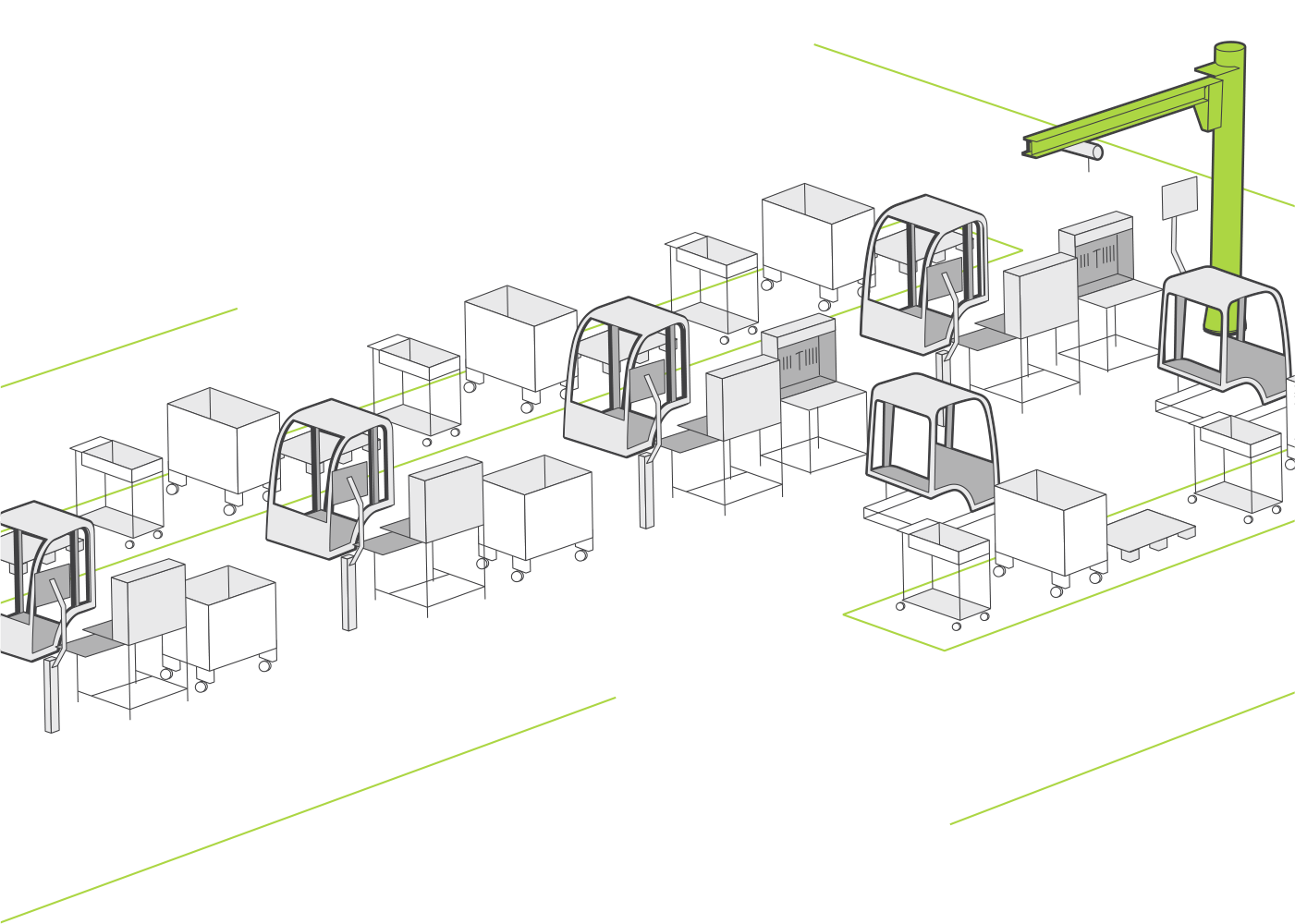 Process Chain - Realizzazione linee di montaggio